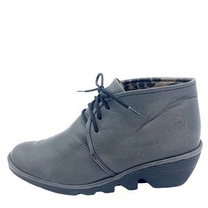 Fly London Pert Touch Gray Leather Desert Boots gray Size 40 9.5
